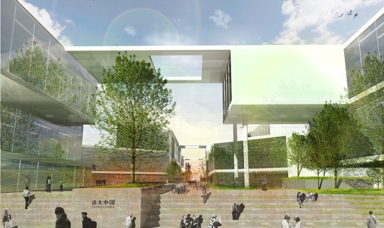 Yuanda Office Complex, Central Green Space to create community, Foxlin Architects