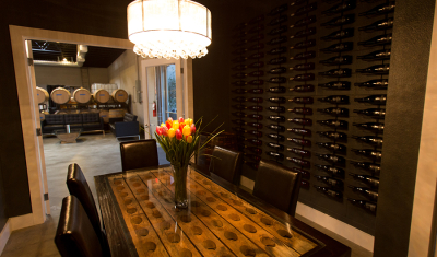 BK Cellars is a Urban Winery in Escondido, CA, Foxlin Architects designed the functional space with tasting lounge in an industrial setting with cosmopolitan flare