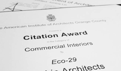 Foxlin was awarded a Citation for Commercial Interiors by the AIAOC