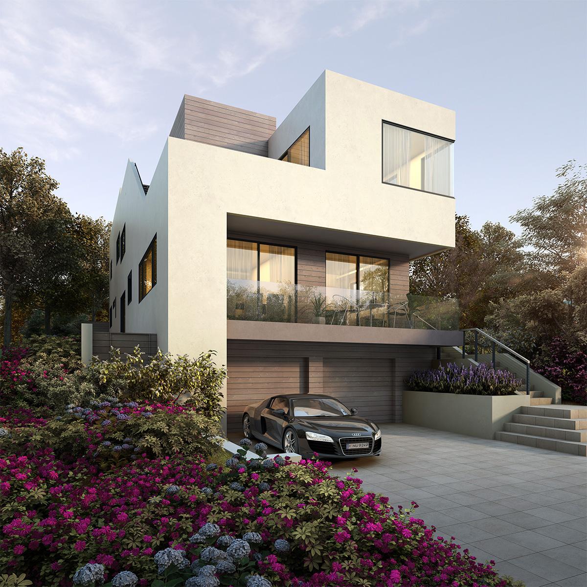 Foxlin Architects, San Clemente Contemporary Duplex