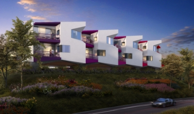 Romeria Lofts, a 14 unit multi-family project in Carlsbad, California, are currently in the schematic design phase