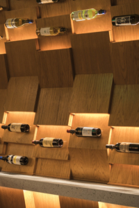 Two Left Forks Orange County Architectural Firm Wine Wall