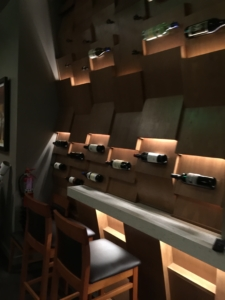 Check out the wine wall at Two Left Forks in Irvine, Foxlin Architects