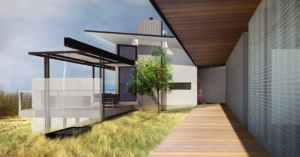 Rendering of Foxlin Architects, Southern California Modern Architects, home build in San Diego