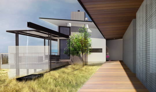 Rendering of Foxlin Architects San Diego Modern Residential Home