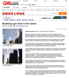 CNN London article about FoxLin Architects