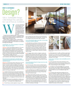 DT Times Article on FoxLin Architects. sustainable eco friendly architecture