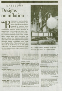 LA Times Article on Bubbles Project with Foxlin Architects