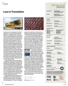 Loss in Translation by Jim Crockett about Interactive Architect, Michael Fox, Foxlin Architects