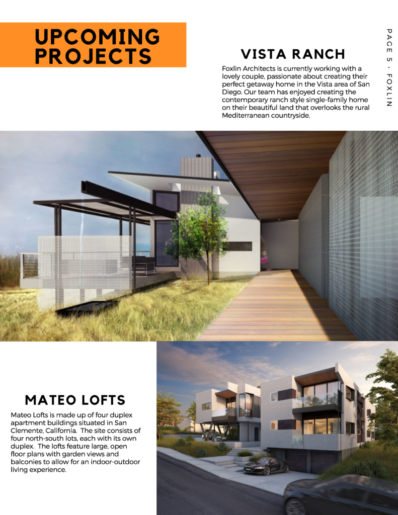 Upcoming projects in Southern California from FoxLin Architects