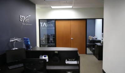 Foxlin Architects, Santa Ana remodel STAjets business office