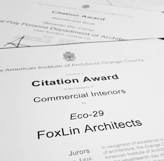Foxlin Architects and Cal Poly Pomona earn two of eight design awards at the AIAOC Awards
