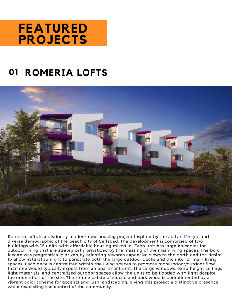 Romeria Lofts in Carlsbad, California designed by FoxLin Architects in Southern California