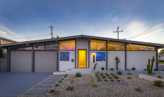 Complete contemporary remodel of three-bedroom house with open floor plan, Carson, California FoxLin Architects