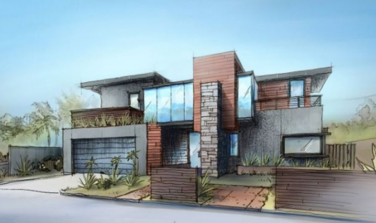 FoxLin Architects - Contemporary New Construction Residential Home Costa Mesa, California