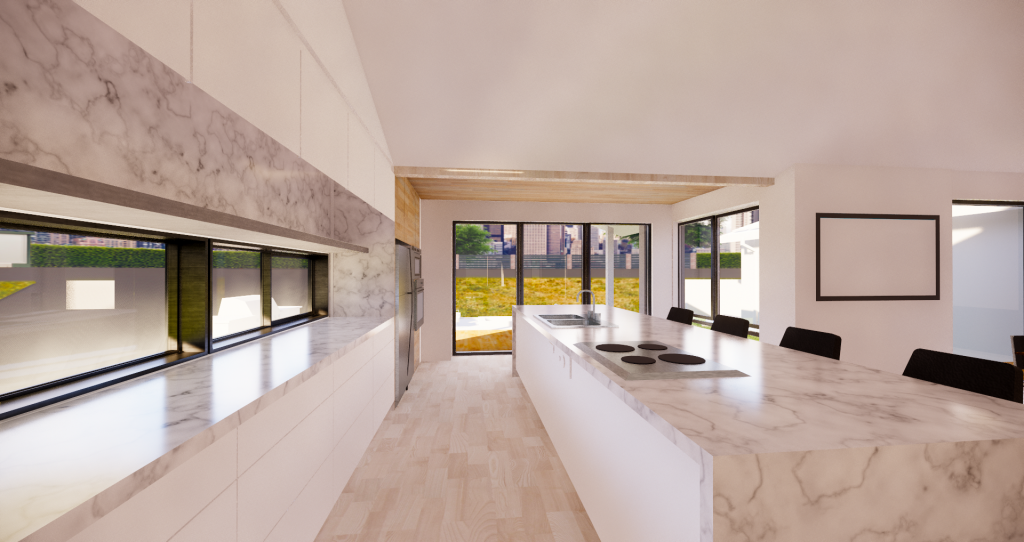 FoxLin Architects of Orange County - Fernheath Residence New Built Home In Costa Mesa, California - in Construction - Rendering