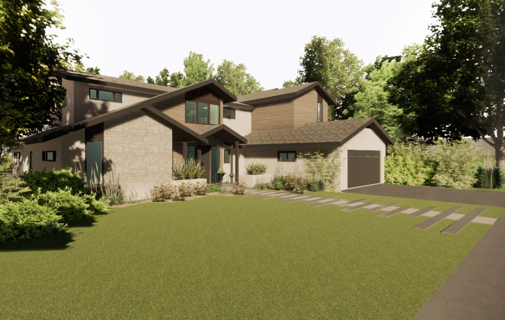 FoxLin Architects of Orange County -Nottingham Residence in Newport Beach, California - New Construction - Rendering