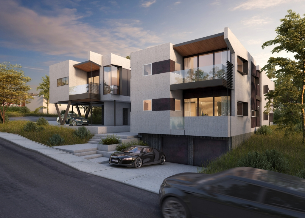 FoxLin Architects of Orange County - Mateo Lofts in San Clemente, California - New Construction - Rendering