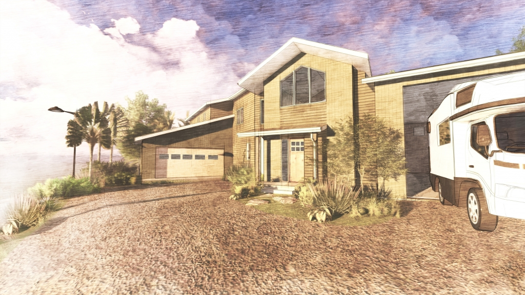 FoxLin Architects of Orange County - Del Obispo Residence in San Juan Capistrano, California - New Construction - Rendering